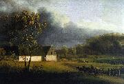 A Storm Brewing Behind a Farmhouse in Zealand Jens Juel