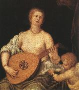 The Lute-playing Venus with Cupid ASG MICHELI Parrasio