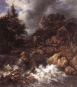 Waterfall in a Mountainous Northern Landscape af RUISDAEL, Jacob Isaackszon van