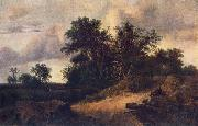 Landscape with a House in the Grove at RUISDAEL, Jacob Isaackszon van