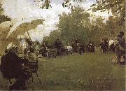 At the Academy-s House in the Country Ilya Repin