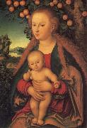 The Virgin and Child under the Apple Tree Lucas  Cranach