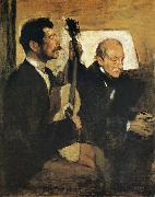 Artist-s Father and Pagand Edgar Degas