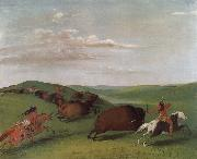 Buffalo Chase with Bows and Lances George Catlin