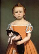 Gril and Cat William Thompson Bartoll