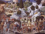 The Procession of the Magi,Procession of the Youngest King Benozzo Gozzoli