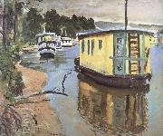 Houseboats,Balloch George Leslie Hunter