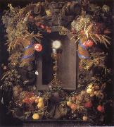Chalice and the host,surounded by garlands of fruit Jan Davidsz. de Heem