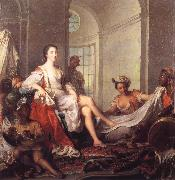 Mademoiselle de Clermont at her Bath,Attended by Slaves Jjean-Marc nattier