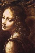 Madonna in the rock grottos(Details LEONARDO da Vinci