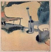 Flower Stand,Watering can and bucket Paul Klee