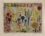 Abstract-imaginary garden Paul Klee