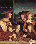 Emperor Maximilian I and his family STRIGEL, Bernhard