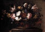Still-Life with a Basket of Flowers Arellano, Juan de
