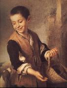 Boy with a Dog Bartolome Esteban Murillo