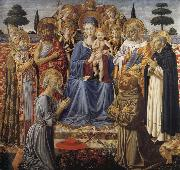 The Virgin and Child Enthroned among Angels and Saints Benozzo Gozzoli
