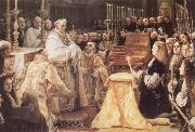Charles II Adoring the St Sacrament COELLO, Claudio
