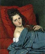 Half-length Woman Lying on a Couch COURTOIS, Jacques