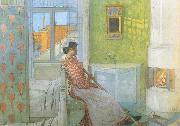 Reading on the Veranda Carl Larsson