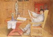 self-portrait in the Studio Carl Larsson
