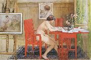 Model,Writing picture-Postals Carl Larsson