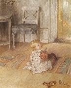 Pontus on the Floor Carl Larsson