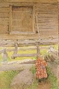 A Rattvik Girl  by Wooden Storehous Carl Larsson