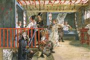 Name Day at the Storage Shed Carl Larsson