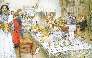 Christmas Eve Banquet Carl Larsson