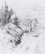 First Glimpse of Sundborn Pencil Carl Larsson