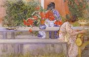 Karin and Brita with Cactus Carl Larsson