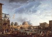 A Sporting Contest on the Tiber at Rome Claude-joseph Vernet