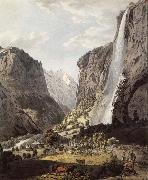 The Fall of the Staubbach,dans the Vallee of Lauterbrunnen Franz Niklaus Konig