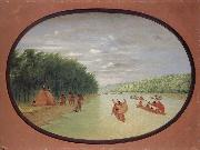 Primitive Sailing by the Winnebago indians George Catlin