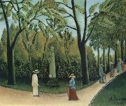 The Chopin Memorial in the Luxembourg Garden Henri Rousseau