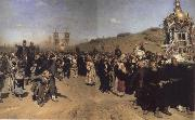 Religious Procession in kursk province Ilya Repin