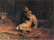 Ivan the Terrible and his son ivan on 15 November 1581 1885 Ilya Repin