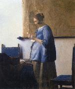 Woman Reading a Letter JanVermeer