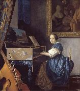A Young Woman Seated at a Virginal JanVermeer