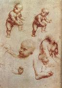 Drawing of an Infant LEONARDO da Vinci