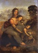 Maria with Child and St. Anna LEONARDO da Vinci