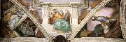 Frescoes above the entrance wall Michelangelo Buonarroti