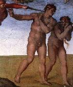 Expulsion from Garden of Eden Michelangelo Buonarroti