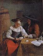 The Declaration of Love to the Woman Reading OCHTERVELT, Jacob