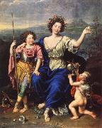 THe Marquise de Seignelay and Two of her Children Pierre Mignard