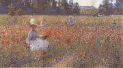 In Flanders Field Where Soldiers Sleep and Poppies Grow Robert William Vonnoh