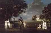 The Family of Neil 3rd Earl of Rosebery in the grounds of Dalmeny House Alexander Nasmyth