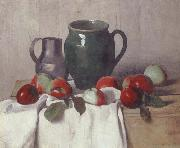 Still life with Jug and Apples Felix Vallotton