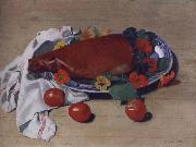 Still life with Ham and Tomatoes Felix Vallotton