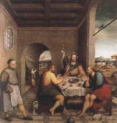 The meal in Emmaus Jacopo Bassano